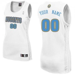 Maillot NBA Authentic Personnalisé Denver Nuggets Home Blanc - Femme