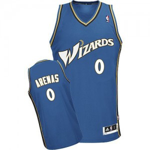 Maillot NBA Bleu Gilbert Arenas #0 Washington Wizards Authentic Homme Adidas