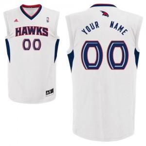 Atlanta Hawks Personnalisé Adidas Home Blanc Maillot d'équipe de NBA la meilleure qualité - Swingman pour Enfants