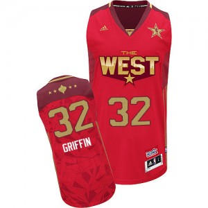 Maillot NBA Los Angeles Clippers #32 Blake Griffin Rouge Adidas Authentic 2011 All Star - Homme