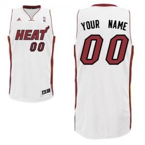 Maillot NBA Miami Heat Personnalisé Swingman Blanc Adidas Home - Homme