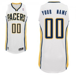 Maillot Adidas Blanc Home Indiana Pacers - Authentic Personnalisé - Homme