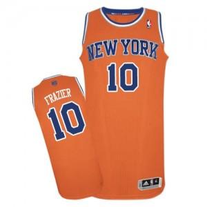 Maillot NBA Authentic Walt Frazier #10 New York Knicks Alternate Orange - Homme