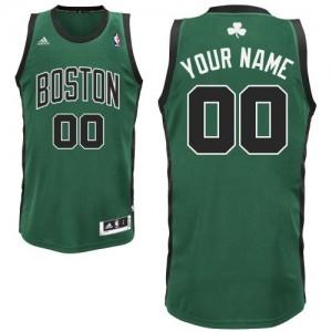 Maillot Adidas Vert (No. noir) Alternate Boston Celtics - Swingman Personnalisé - Enfants