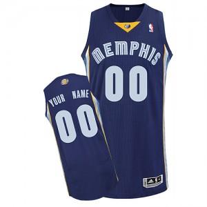 Memphis Grizzlies Authentic Personnalisé Road Maillot d'équipe de NBA - Bleu marin pour Enfants