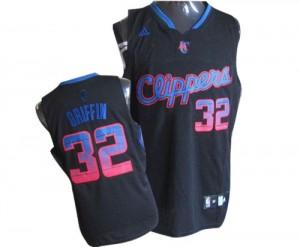 Los Angeles Clippers #32 Adidas Vibe Noir Authentic Maillot d'équipe de NBA en ligne pas chers - Blake Griffin pour Homme