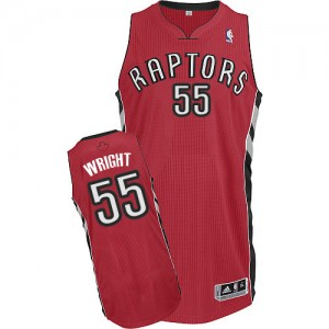 Maillot NBA Toronto Raptors #55 Delon Wright Rouge Adidas Authentic Road - Homme