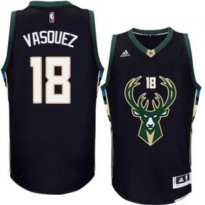 Milwaukee Bucks #18 Adidas Alternate Noir Authentic Maillot d'équipe de NBA 100% authentique - Greivis Vasquez pour Homme