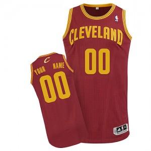 Maillot NBA Vin Rouge Authentic Personnalisé Cleveland Cavaliers Road Homme Adidas