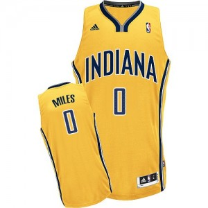 Indiana Pacers #0 Adidas Alternate Or Swingman Maillot d'équipe de NBA magasin d'usine - C.J. Miles pour Homme