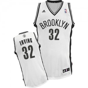 Brooklyn Nets Julius Erving #32 Home Swingman Maillot d'équipe de NBA - Blanc pour Homme