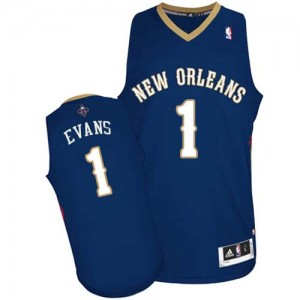 Maillot NBA Authentic Tyreke Evans #1 New Orleans Pelicans Road Bleu marin - Homme