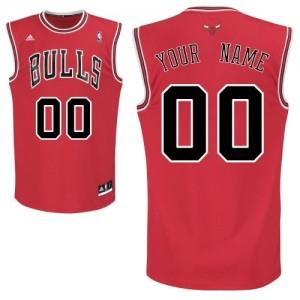 Maillot Adidas Rouge Road Chicago Bulls - Swingman Personnalisé - Enfants