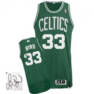 Boston Celtics #33 Adidas Road Autographed Vert (No Blanc) Authentic Maillot d'équipe de NBA 100% authentique - Larry Bird pour Homme