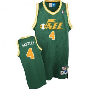 Utah Jazz Adrian Dantley #4 Throwback Authentic Maillot d'équipe de NBA - Vert pour Homme