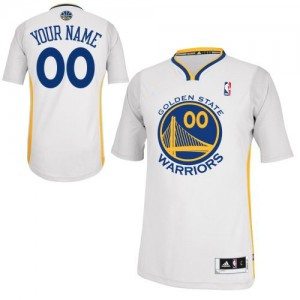 Maillot Adidas Blanc Alternate Golden State Warriors - Authentic Personnalisé - Homme