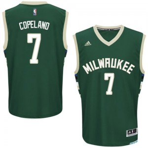 Milwaukee Bucks #7 Adidas Road Vert Swingman Maillot d'équipe de NBA Prix d'usine - Chris Copeland pour Homme
