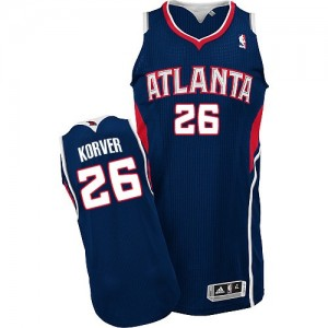 Maillot Authentic Atlanta Hawks NBA Road Bleu marin - #26 Kyle Korver - Homme