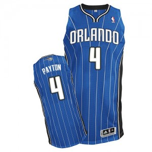 Maillot NBA Bleu royal Elfrid Payton #4 Orlando Magic Road Authentic Homme Adidas