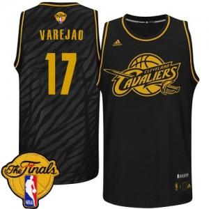 Cleveland Cavaliers Anderson Varejao #17 Precious Metals Fashion 2015 The Finals Patch Swingman Maillot d'équipe de NBA - Noir pour Homme