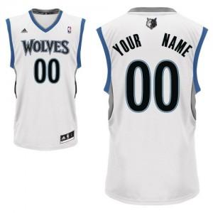 Maillot NBA Minnesota Timberwolves Personnalisé Swingman Blanc Adidas Home - Enfants