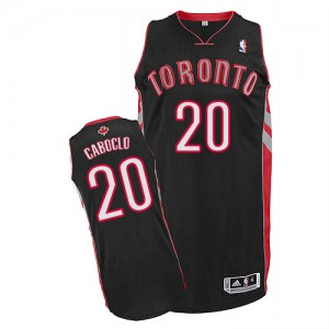 Maillot Adidas Noir Alternate Authentic Toronto Raptors - Bruno Caboclo #20 - Homme