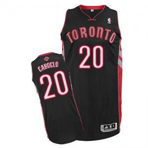 Maillot Adidas Noir Alternate Authentic Toronto Raptors - Bruno Caboclo #20 - Homme