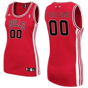 Maillot Chicago Bulls NBA Road Rouge - Personnalisé Swingman - Femme