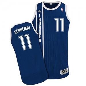 Oklahoma City Thunder #11 Adidas Alternate Bleu marin Authentic Maillot d'équipe de NBA Remise - Detlef Schrempf pour Homme