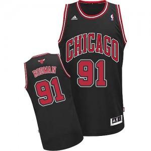 Maillot Swingman Chicago Bulls NBA Alternate Noir - #91 Dennis Rodman - Homme