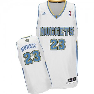 Maillot NBA Blanc Jusuf Nurkic #23 Denver Nuggets Home Swingman Homme Adidas