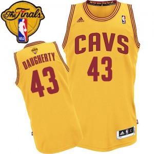 Cleveland Cavaliers Brad Daugherty #43 Alternate 2015 The Finals Patch Authentic Maillot d'équipe de NBA - Or pour Homme