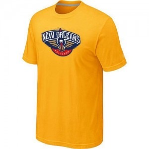 New Orleans Pelicans Big & Tall Tee-Shirt d'équipe de NBA - Jaune pour Homme