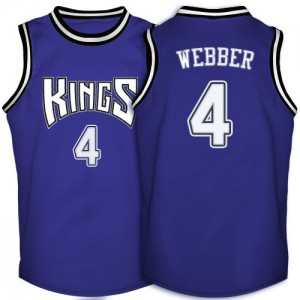 Maillot Authentic Sacramento Kings NBA Throwback Violet - #4 Chris Webber - Homme