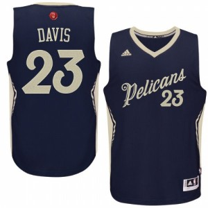 New Orleans Pelicans #23 Adidas 2015-16 Christmas Day Bleu marin Authentic Maillot d'équipe de NBA la vente - Anthony Davis pour Homme