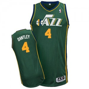 Maillot NBA Utah Jazz #4 Adrian Dantley Vert Adidas Authentic Alternate - Homme