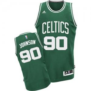 Maillot NBA Swingman Amir Johnson #90 Boston Celtics Road Vert (No Blanc) - Homme