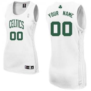 Maillot Boston Celtics NBA Home Blanc - Personnalisé Authentic - Femme