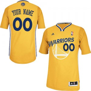 Maillot NBA Golden State Warriors Personnalisé Swingman Or Adidas Alternate - Enfants