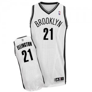 Maillot Authentic Brooklyn Nets NBA Home Blanc - #21 Wayne Ellington - Homme