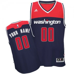 Maillot Adidas Bleu marin Alternate Washington Wizards - Swingman Personnalisé - Homme