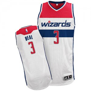 Maillot Authentic Washington Wizards NBA Home Blanc - #3 Bradley Beal - Homme