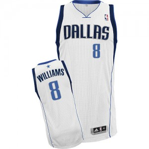 Dallas Mavericks #8 Adidas Home Blanc Authentic Maillot d'équipe de NBA pas cher en ligne - Deron Williams pour Homme