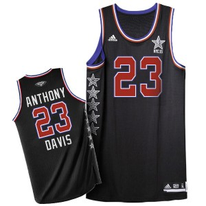 Maillot NBA Noir Anthony Davis #23 New Orleans Pelicans 2015 All Star Swingman Homme Adidas