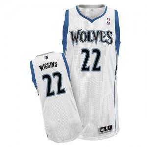 Minnesota Timberwolves Andrew Wiggins #22 Home Authentic Maillot d'équipe de NBA - Blanc pour Homme