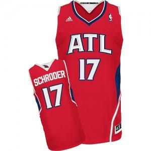 Maillot NBA Atlanta Hawks #17 Dennis Schroder Rouge Adidas Swingman Alternate - Homme