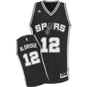 Maillot Swingman San Antonio Spurs NBA Road Noir - #12 LaMarcus Aldridge - Homme