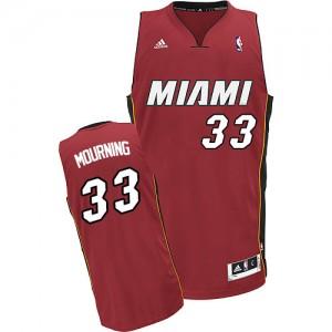 Miami Heat Alonzo Mourning #33 Alternate Swingman Maillot d'équipe de NBA - Rouge pour Homme