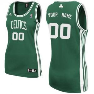 Maillot Boston Celtics NBA Road Vert (No Blanc) - Personnalisé Swingman - Femme