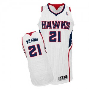 Maillot NBA Authentic Dominique Wilkins #21 Atlanta Hawks Home Blanc - Homme